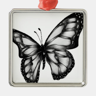 Lovely Butterfly Silver-Colored Square Decoration