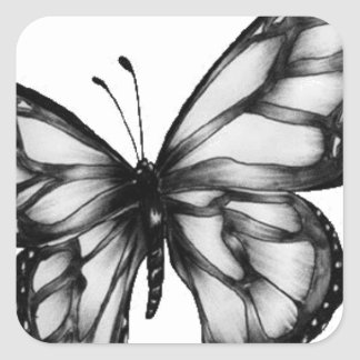 Lovely Butterfly Square Sticker