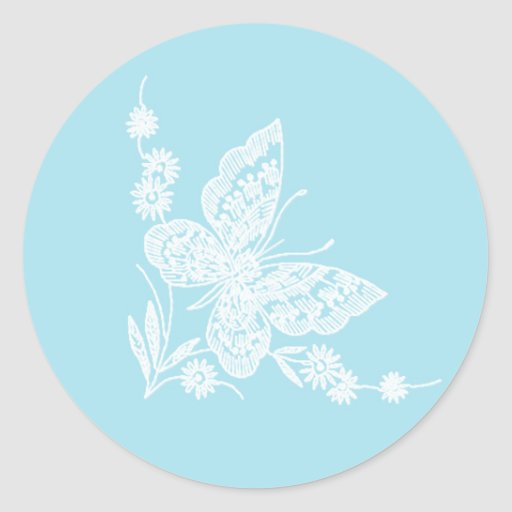Lovely butterfly Wedding Stickers