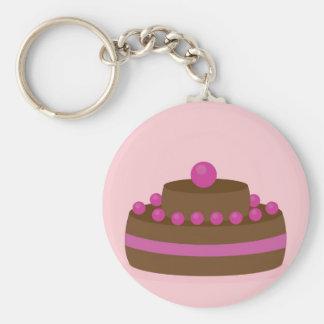 Lovely cake basic round button key ring