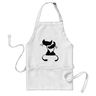 Lovely Cats Silhouette Aprons