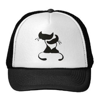 Lovely Cats Silhouette Mesh Hats