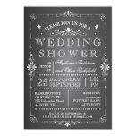Lovely Chalkboard Couples Wedding Shower 13 Cm X 18 Cm Invitation Card