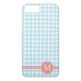 Lovely Checkered Blue Monogram | Phone Case