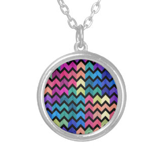 Lovely Chevron II Silver Plated Necklace