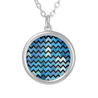 Lovely Chevron III Silver Plated Necklace