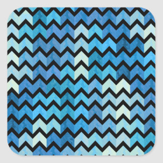 Lovely Chevron III Square Sticker