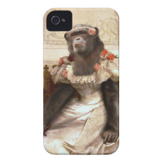 Lovely Chimp in Gown iPhone 4 Case-Mate Cases