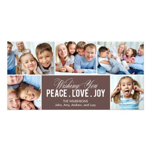 Lovely Collage Holiday Photo Card Picture Card