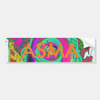 Lovely colorful Floral Monogrammed logo design Bumper Sticker