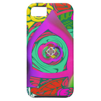 Lovely colorful Floral Monogrammed logo design Case For The iPhone 5