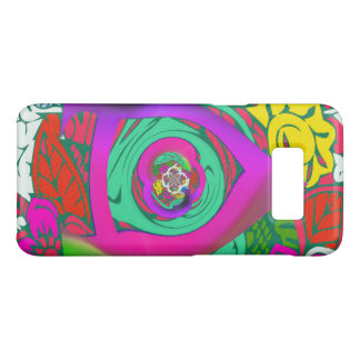 Lovely colorful Floral Monogrammed logo design Case-Mate Samsung Galaxy S8 Case