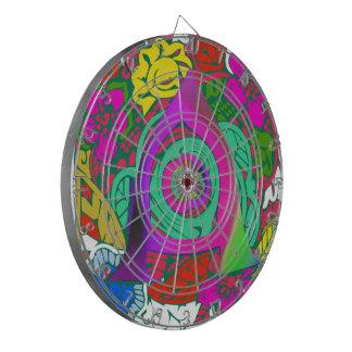 Lovely colorful Floral Monogrammed logo design Dartboards
