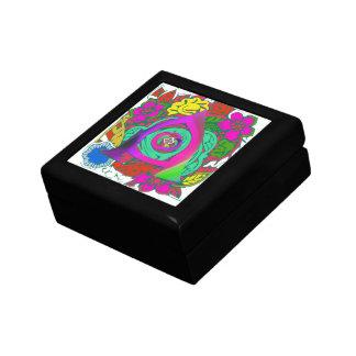 Lovely colorful Floral Monogrammed logo design Gift Box