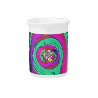 Lovely colorful Floral Monogrammed logo design Pitcher