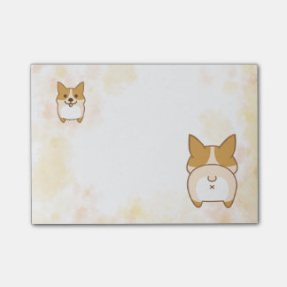 Lovely Corgi Butt Post-it Notes