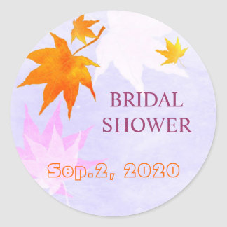Lovely Country Maple Leaf Bridal Shower Stickers