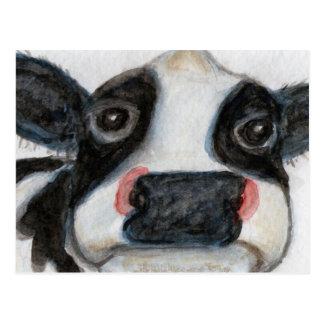 Lovely Cow watercolour birthday thankyou Postcard