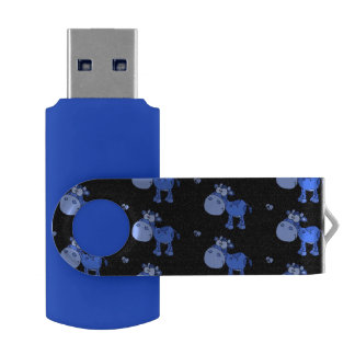 lovely cows,oneway blue USB flash drive