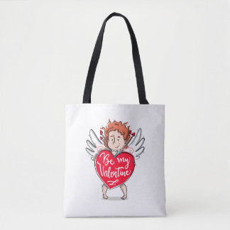 Lovely Cupid's Be My Valentine Tote Bag