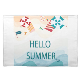 Lovely cute adorable sea beach funny item placemat