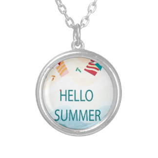 Lovely cute adorable sea beach funny item silver plated necklace