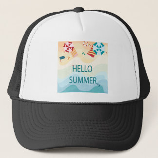 Lovely cute adorable sea beach funny item trucker hat