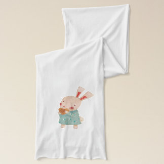 Lovely Cute Bunny Rabbit Eating Pancake Scarf