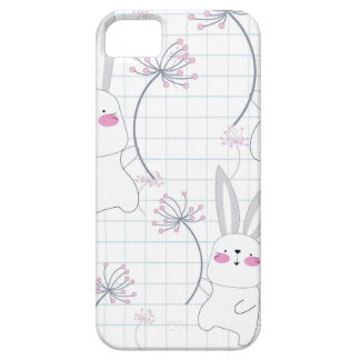 Lovely cute rabbit bunny blue grey pattern iPhone 5 case