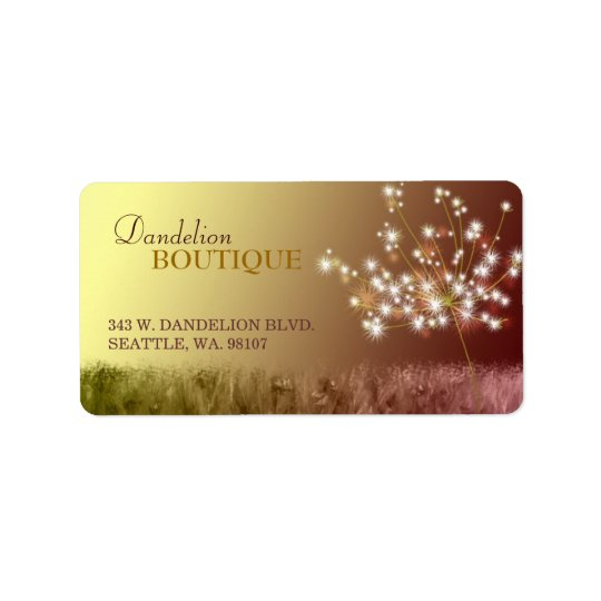 Lovely Dandelion Business Marketing Address Label