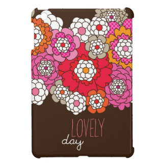 Lovely day retro flowers inspiration quote cover for the iPad mini