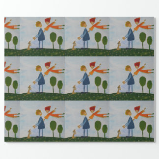 Lovely Day Romantic Walk  Matte Wrapping Paper