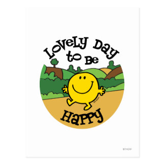 Lovely Day To Be Mr. Happy Postcard