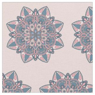 Lovely Decorative Mandala - Pink and Blue Fabric
