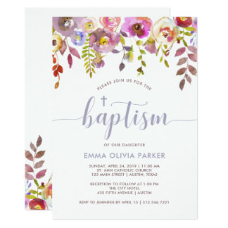 Lovely Delicate Floral | Baptism Invitation