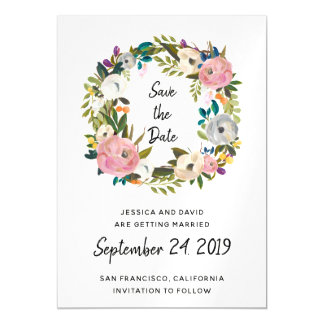 Lovely Delicate Flowers   Save the Date Magnetic Card