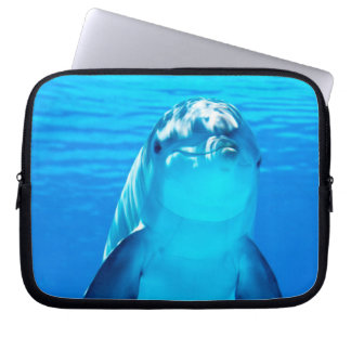 Lovely Dolphin Underwater Sea Life Computer Sleeve