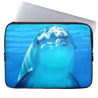 Lovely Dolphin Underwater Sea Life Laptop Sleeves