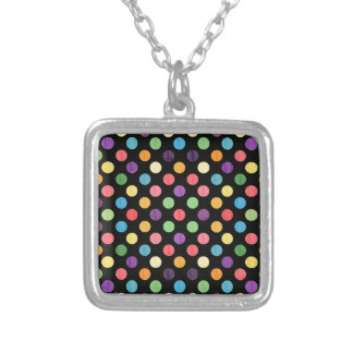 Lovely Dots Pattern IX Silver Plated Necklace