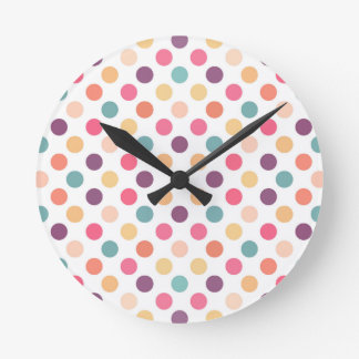 Lovely Dots Pattern XI Round Clock