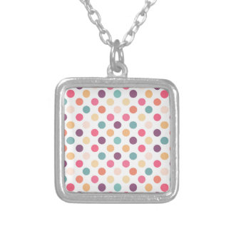 Lovely Dots Pattern XI Silver Plated Necklace