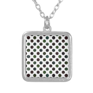 Lovely Dots Pattern XIII Silver Plated Necklace