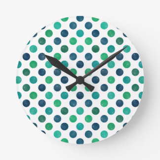 Lovely Dots Pattern XIV Round Clock