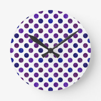 Lovely Dots Pattern XV Round Clock