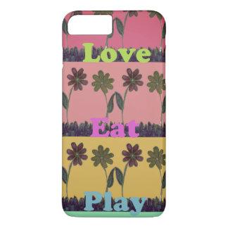 Lovely Eat Play Beautiful Fantastic Feminin colors iPhone 7 Plus Case