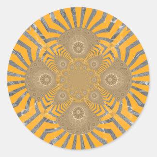 Lovely Edgy  amazing symmetrical pattern design Classic Round Sticker