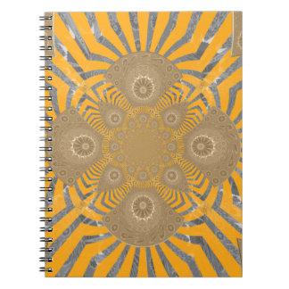 Lovely Edgy  amazing symmetrical pattern design Notebooks