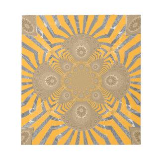 Lovely Edgy  amazing symmetrical pattern design Notepads