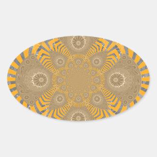 Lovely Edgy  amazing symmetrical pattern design Oval Sticker