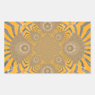 Lovely Edgy  amazing symmetrical pattern design Rectangular Sticker